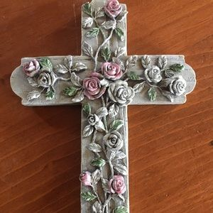 Other - Floral cross wall hanging